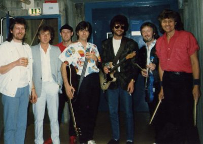 The last show of the century: ELO waiting in the wings, Stuttgart, July 13 1986.